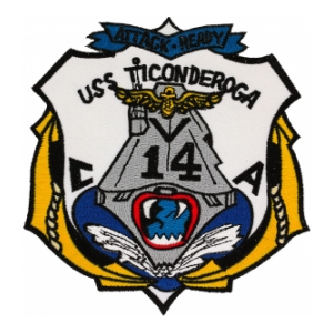 USS Ticonderoga CVA-14 Ship Patch