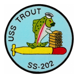 USS Trout SS-202 Submarine Patch