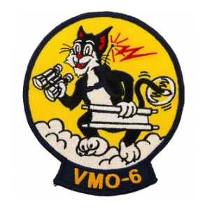 Marine Observation Squadron VMO-6 Patch (Cat and Stretcher)