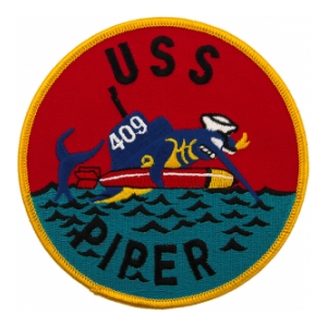 USS Piper SS-409B Post WWII Submarine Patch