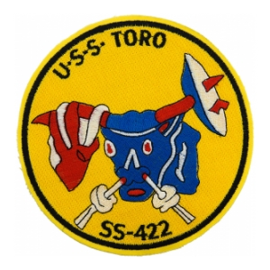 USS Toro SS-422 Bull Submarine Patch