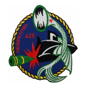 USS Trumpet Fish SS-425A Green Submarine Patch