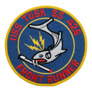USS Tusk SS-426A Front Runner Submarine Patch