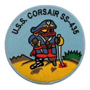 USS Corsair SS-435 Pirate Fish Submarine Patch