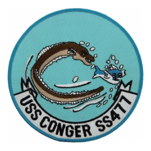 USS Conger SS-477B Eel and Fish Submarine Patch