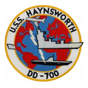 USS Haynsworth DD-700 Ship Patch