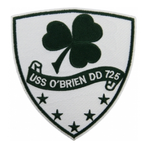 USS OBrien DD-725 Ship Patch