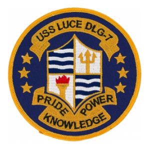 USS Luce DLG-7 (Pride Power Knowledge) Ship Patch