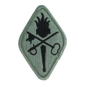 Quarter Master Center & School Patch Foliage Green (Velcro Backed)
