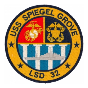 USS Spiegel Grove LSD-32 Ship Patch