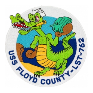 USS Floyd County LST-762 Ship Patch