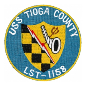 USS Tioga County LST-1158 Ship Patch
