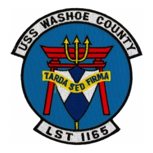 USS Washoe County LST-1165 Ship Patch