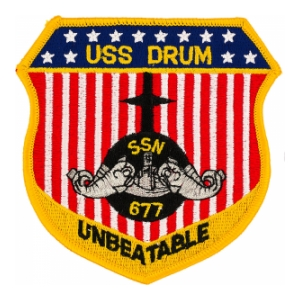 USS Drum Unbeatable SSN-677 Patch