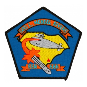 USS L. Mendel Rivers SSN-686 Patch