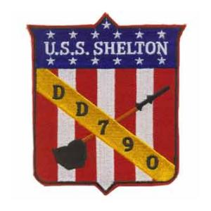 USS Shelton DD-790 Ship Patch