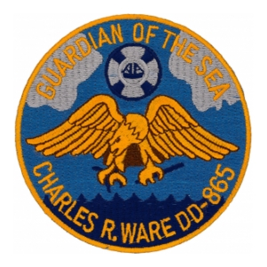 USS Charles R. Ware DD-865 Ship Patch