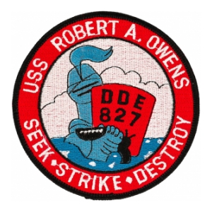 USS Robert A. Owens DDE-827 Ship Patch