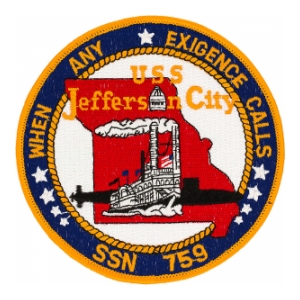 USS Jefferson City SSN-759 Patch