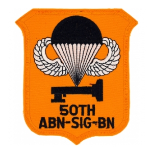 50th Airborne Signal Battalion Patch