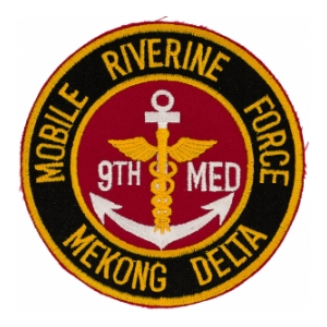 9th Medical Company Patch Mobile Riverine Patch Mekong Delta