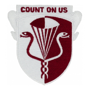 11th Medical Battalion (Airborne) Count On Us Patch