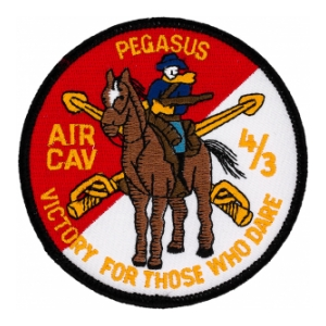 Pegasus 4/3 Air Cavalry Regiment Victory For Those Who Dare Patch (Dress)