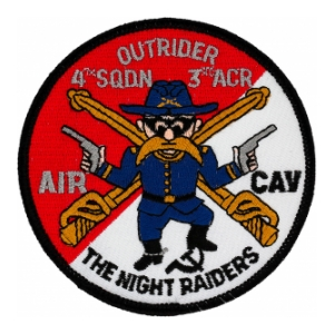 Outrider 4/3 Air Cavalry Regiment The Night Raiders Patch (Dress)