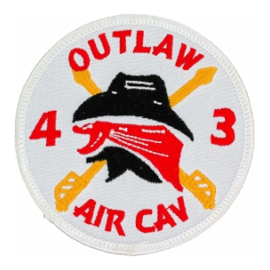 Outlaw 4/3 Air Cavalry Regiment Patch (Dress)