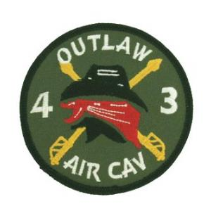 Outlaw 4/3 Air Cavalry Regiment Patch (OD)