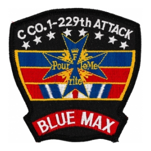 1st Battalion 229th Aviation Regiment  C Company (Blue Max) (Dress) Patch