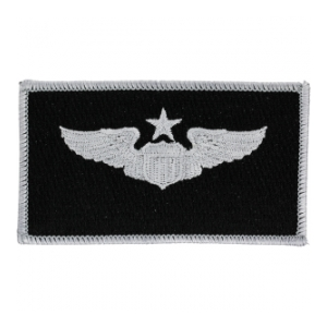 Air Force Senior Pilot Wing Patch (Silver On Black)
