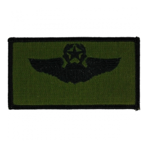 Air Force Master Pilot Wing Patch (Black On OD)
