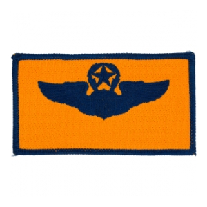 Air Force Master Pilot Wing Patch (Blue On Gold)
