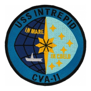 USS Intrepid CVA-11 Ship Patch (In Mare In Coeld)