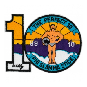 89-10 Air Force Training Squadron Patch (The Perfect 10 Phi Slamma Stick)