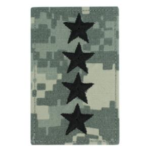 Army General Rank with Velcro Backing (Digital All Terrain)