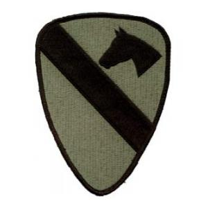 1st Cavalry Division Patch Foliage Green (Velcro Backed)