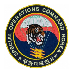 Special Operations Command Korea Patch