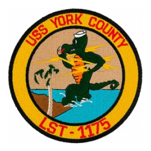 USS York County LST-1175 Ship Patch