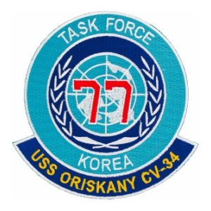 Uss Oriskany Cv 34 Tf 77 Task Force Korea Ship Patch