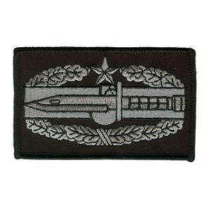 Combat Action Badge 2nd Award Patch Class A (Black and Grey)