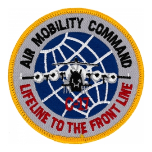 Air Mobility Command Lifeline To The Front Line Patch Full Color