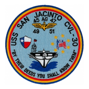 USS San Jacinto CVL-30 Ship Patch