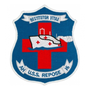 USS Repose AH-16 Ship Patch