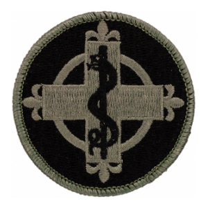 338th Medical Brigade Patch Foliage Green (Velcro Backed)