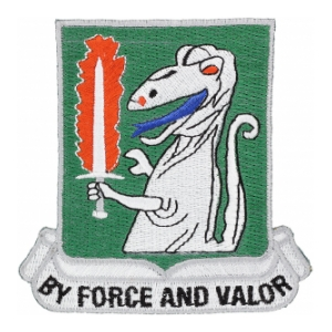 40th Cavalry Regiment By Force And Valor Patch