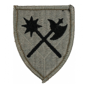 194th Armored Brigade Patch Foliage Green (Velcro Backed)
