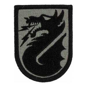 5th Signal Command Patch Foliage Green (Velcro Backed)