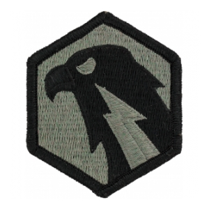 6th Signal Command Patch Foliage Green (Velcro Backed)